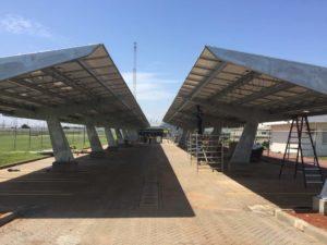 Solar canopy in Ghana