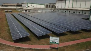Solar ground mount in Tema Ghana. Cargill