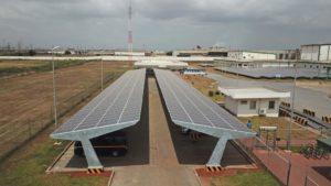 Solar car park Tema Ghana